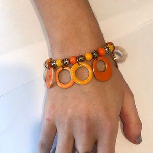 Bright Warm Colored Circle Bracelet